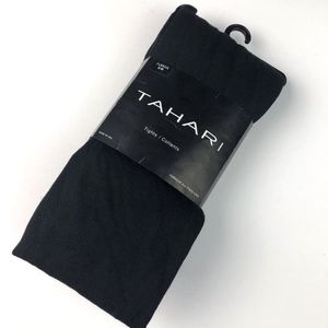 Tahari Size Small/Medium Black Fleece Tights